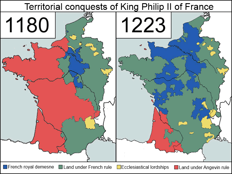 Territorial Conquests of Philip II of France Duchy of