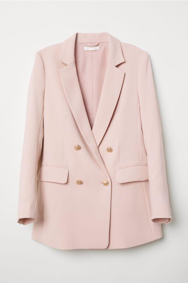 97345272bf FROCK COAT DRESS from Zara in nude pink
