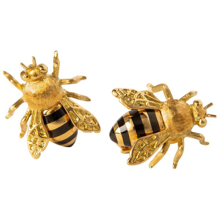 aa796ddea9e5c Verdura Honeybee Earrings in 2019 | Verdura Jewelry | Earrings, Clip ...