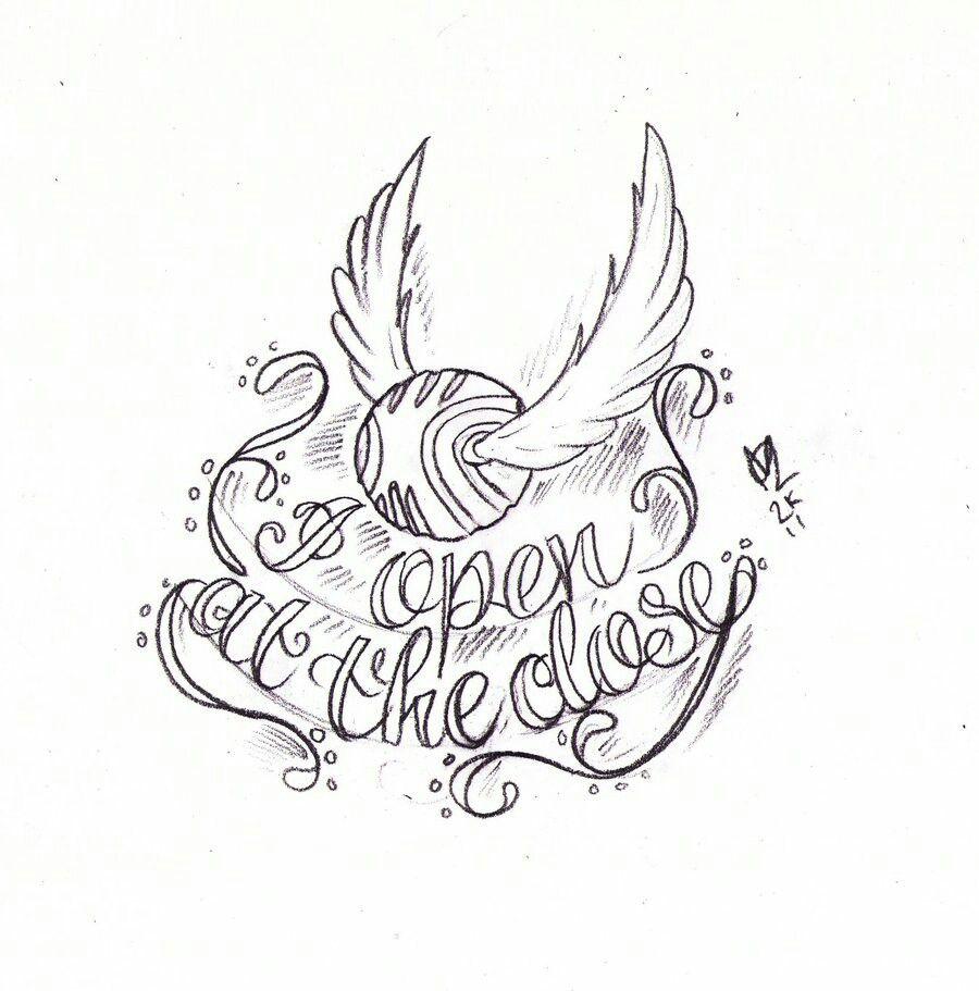 Snitch drawing | Гарри поттер, Удивительные татуировки ...