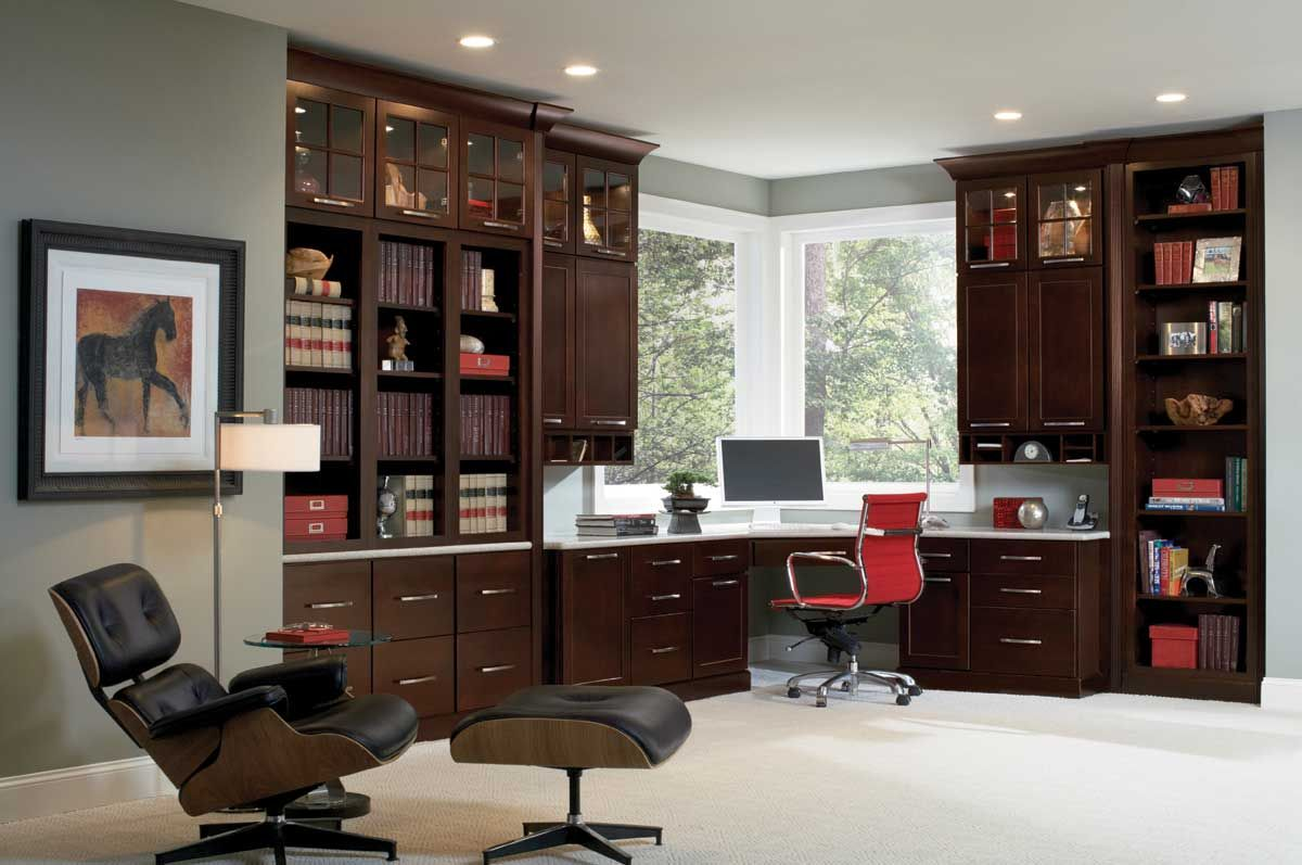 Distinguished Office With Lots Of Storage. Waypoint Living Spaces | Style  650 In Cherry Java