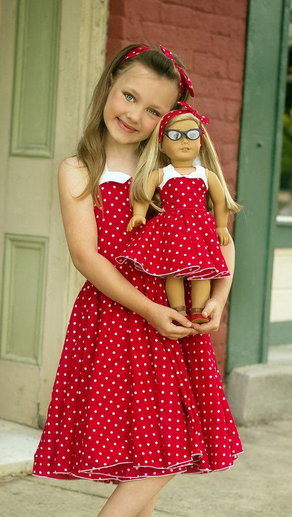 Betty's Fifties Dress PDF Pattern in Doll Sizes
