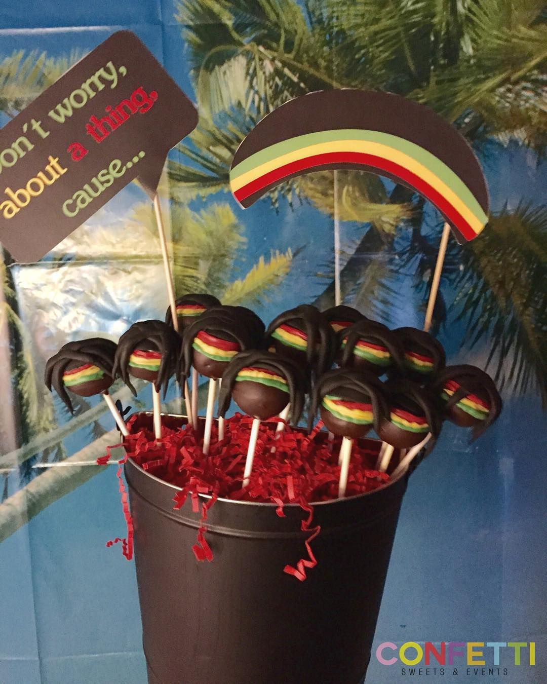 Google themes bob marley - Don T Worry About A Thing Cause Every Little Thing Gonna Be Alright Bob Marley Cake Pops The Party Was So Awesome You Did Such A Great Job