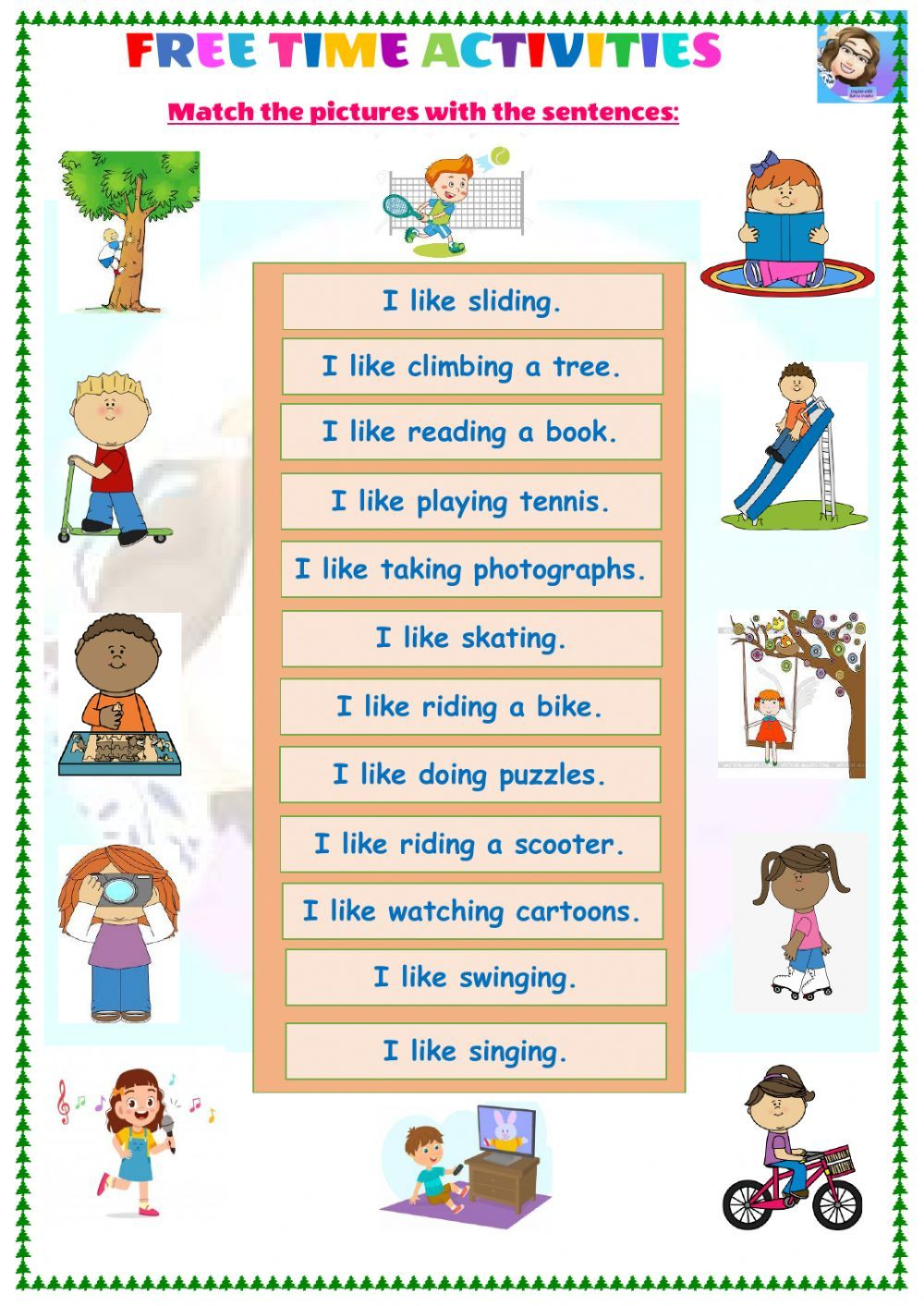 Free Time Activities Online Worksheet For Grade 4 You Can Do The Exercises Online Or Download T In 2021 Free Time Activities Time Activities Learning English For Kids [ 1413 x 1000 Pixel ]