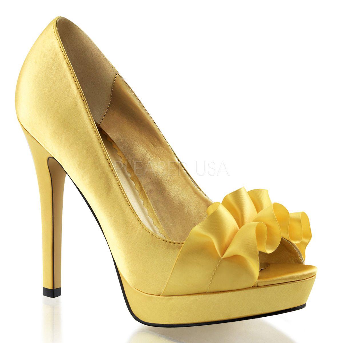 SALE! Fabulicious High Heel Pumps Lumina-42 gelb