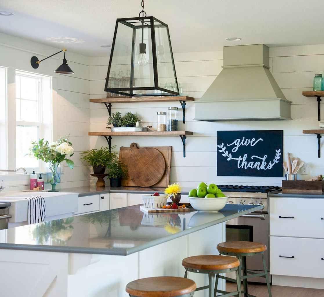 75 Elegant Gray Kitchen Cabinet Makeover For Farmhouse Decor Ideas Checopie Farmhouse Kitchen Design Vintage Farmhouse Sink Grey Kitchen Cabinets