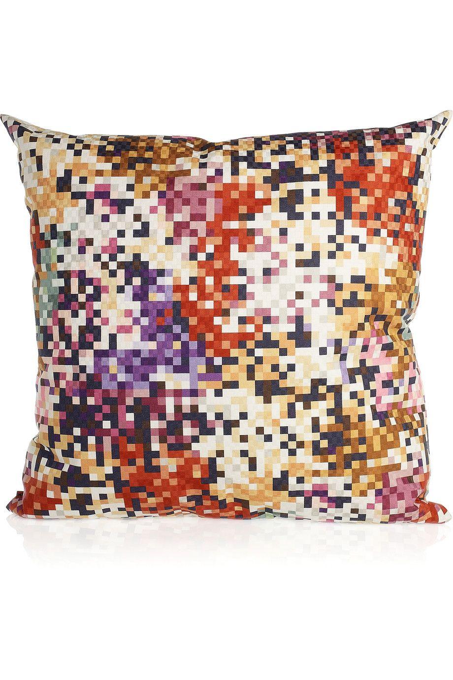 Missoni home lobos printed downfilled cushion uac pixelated