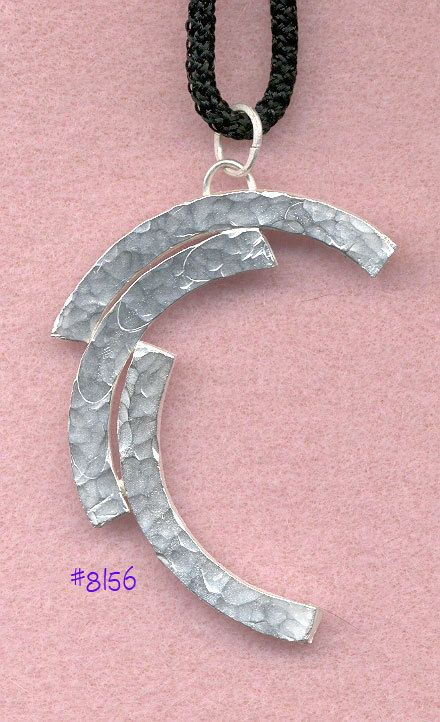 Sterling Silver Pendant... Organic ...
