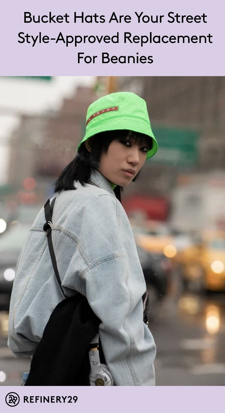 28ea10622cd These are the bucket hats we saw all over NYFW  Hats  Fashion  StreetStyle   NYFW  BucketHats