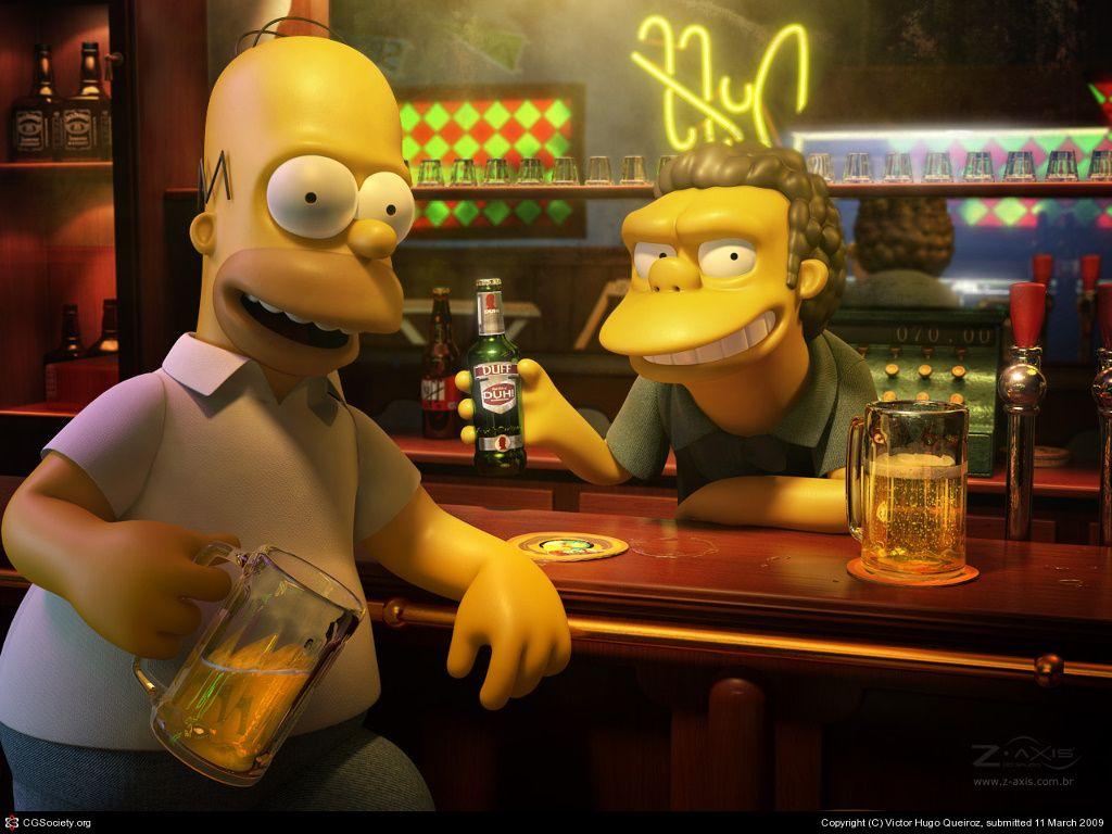 Cartoons Wallpaper Simpsons Moes 3d Wow Look At Me Im In