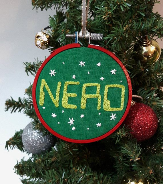 Embroidered Christmas ornament. Nerd ornament. Computer geek ...