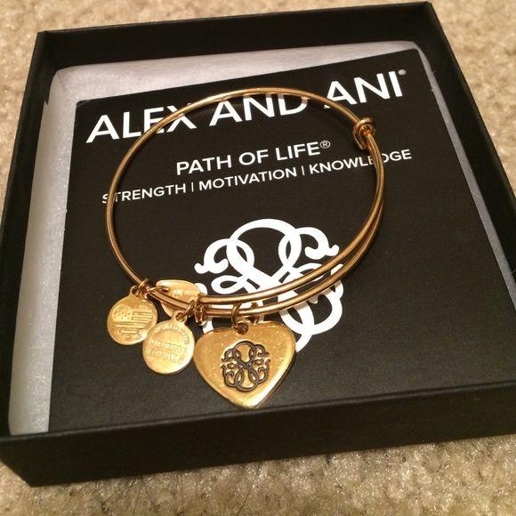 Alex And Ani Path Of Life Heart Charm Bangle Heart Charm Alex Ani
