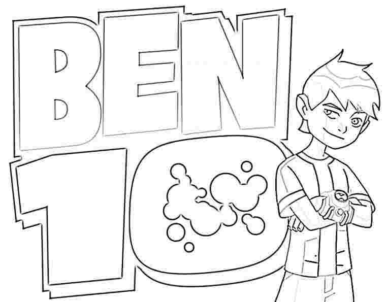 Ben 10 Coloring Pages Cartoon Jr