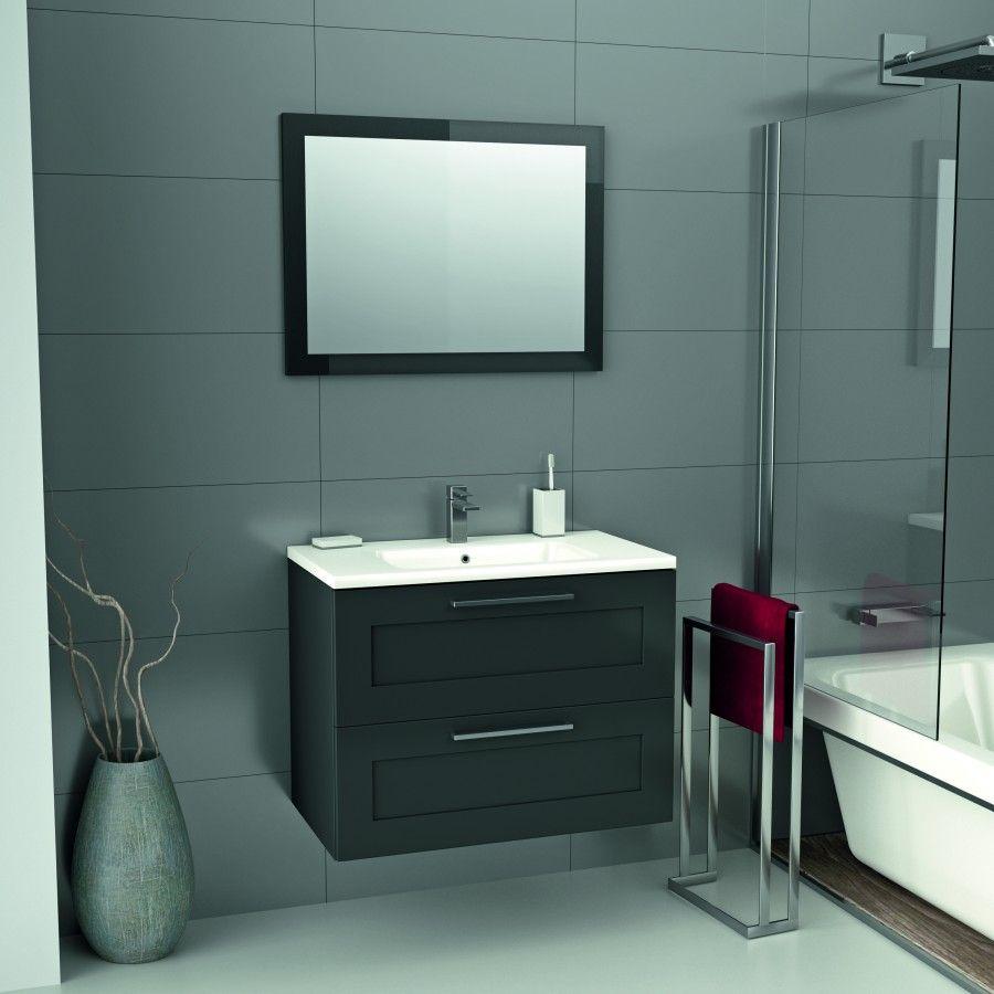 Meuble lio gris mat 80 cm mr bricolage meuble de salle - Mr bricolage salle de bain ...