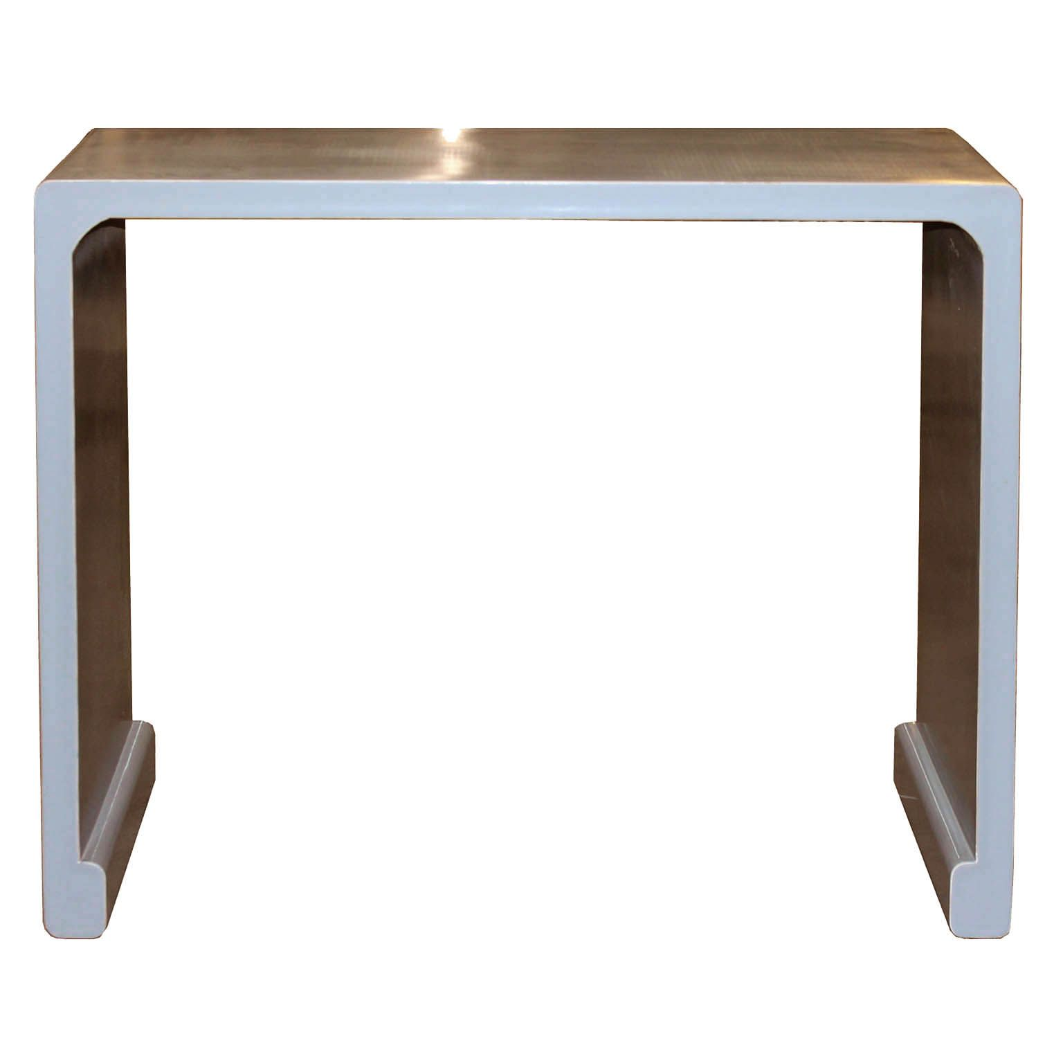 how to clean lacquer furniture. Contemporary Gray Lacquer Waterfall Console Table With Elegant Clean Lines, Scroll Feet And Exposed Wood How To Furniture E