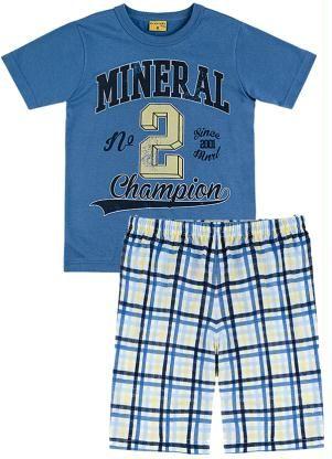 Pijama Azul Mineral Kids - Posthaus
