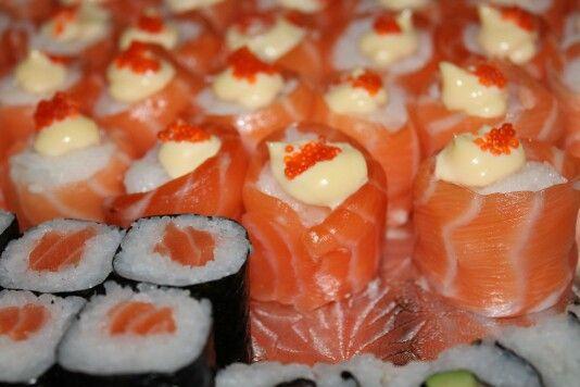 Sushi salmon rolls