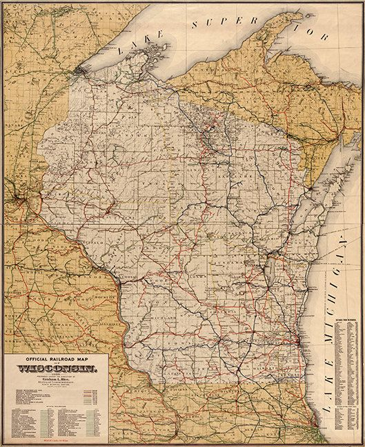 Map of the Grand Rapids Indiana Railroad and its connections