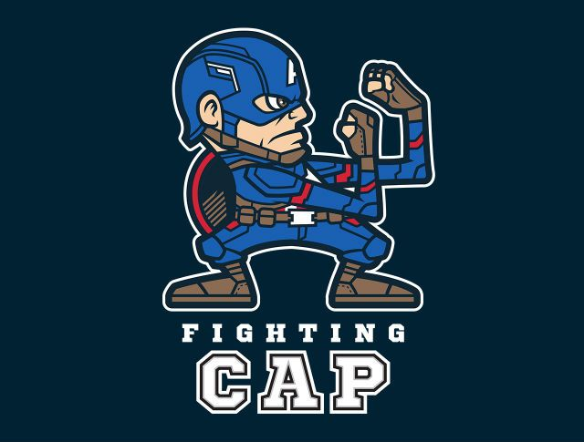 Fighting Cap T-Shirt - Captain America T-Shirt is $17 at TeeFury!
