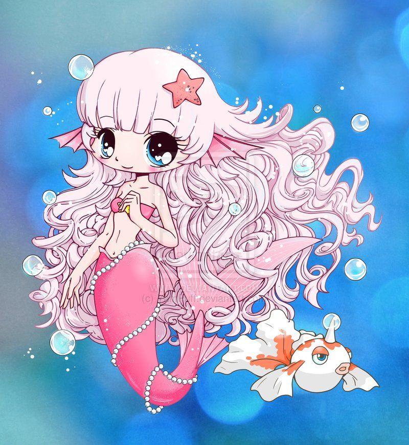 Mermaid Chibi Gift By Yampuff On Deviantart Chibi Anime Child