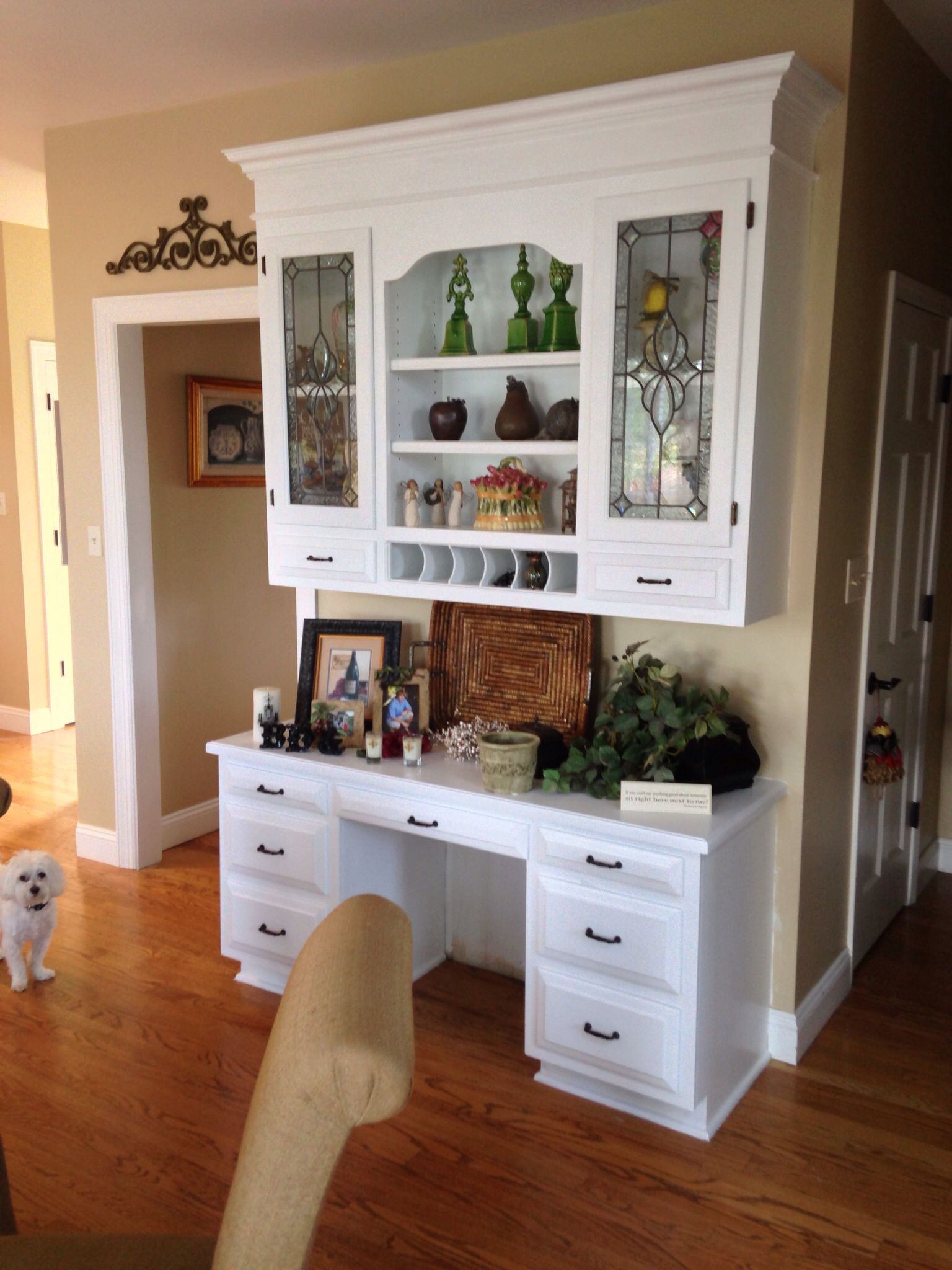 We will replace desk with a cabinet in butlers pantry for Ikea butlers pantry