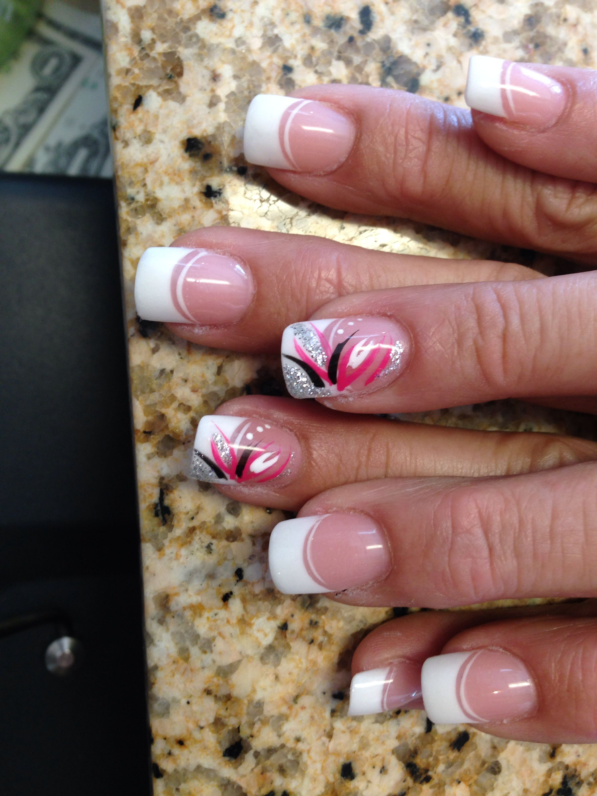 Double French free style nails art | Danny | Pinterest | Style nails