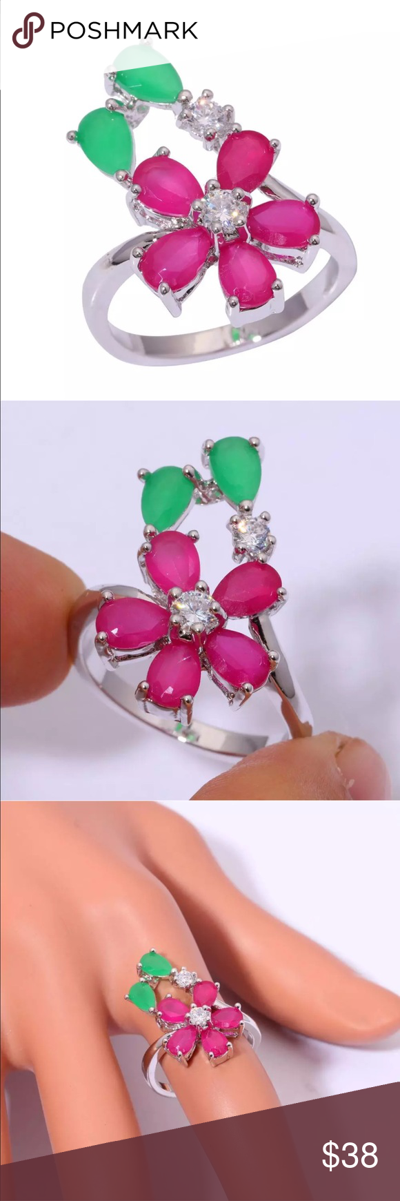New with tags beautiful ruby zircon wedding ring New with tags ...