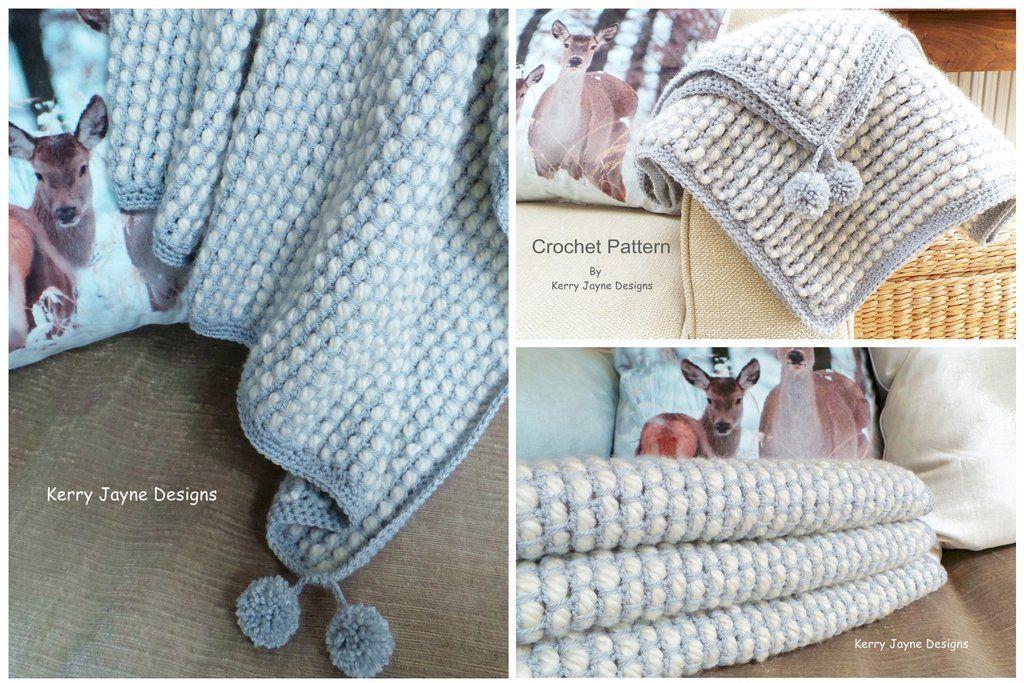 Channel Stitch Blanket Crochet pattern | mantas crochet | Pinterest ...