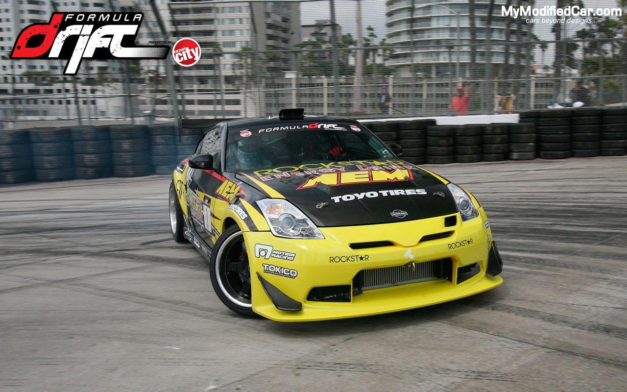 Yellow Modified Nissan 350z Car Hd Wallpapers Tuner Cars Car Hd Drifting