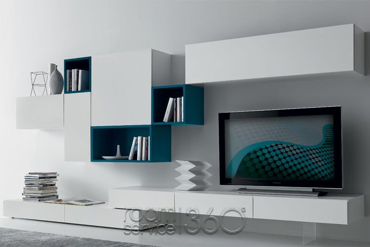 Modus 56 modern wall unit by presotto 18477 for the for Mobelhersteller italien