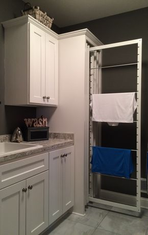 """It would be a luxury to have a dedicated """"laundry room"""". I would definitely have an indoor drying rack system like this one. Space saving and Eco friendly!!"""