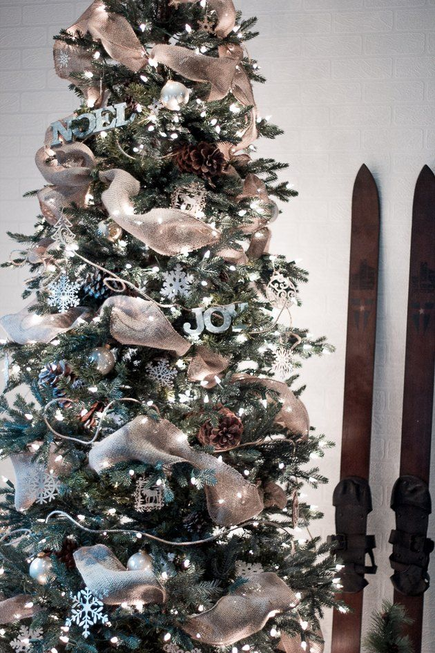 How to Put Ribbon Garland on a Christmas Tree   Christmas ...