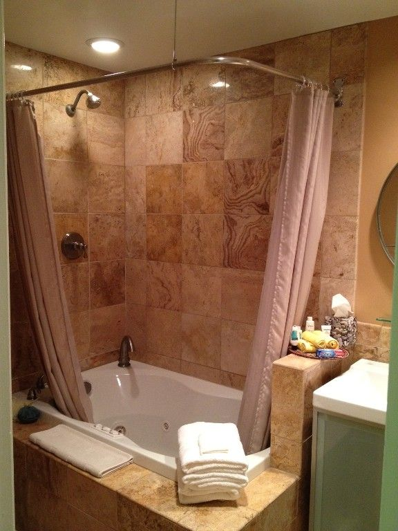 Shower Tub Master Bath With Jacuzzi Maybe A Glass Surround