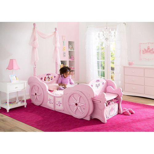 Disney Princess Carriage Convertible Toddler Bed In 2020