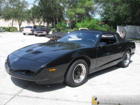 Pontiac Firebird Convertible For Sale Black 1991 Pontiac Firebird Trans Am Convertible With