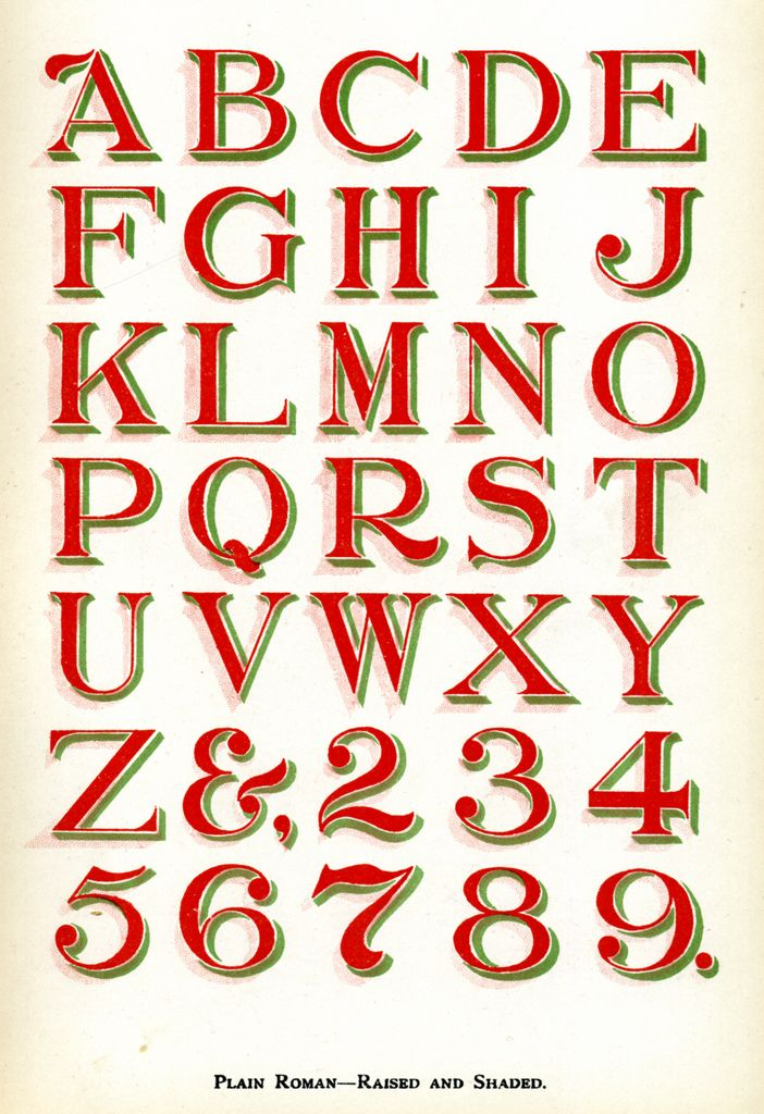 Sign Painter S Alphabet With Drop Shadow Great For Chalkboard Signage Sign Painting Lettering Lettering Sign Writing