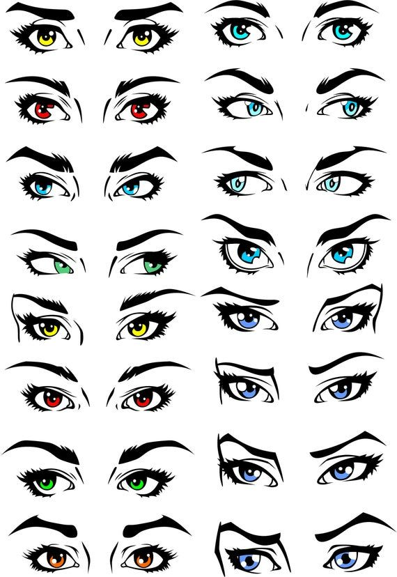 Set Of Human Eyes Clipart Shine Look View Svg Cdr Png Etsy Eyes Clipart Lips Drawing Eye Drawing