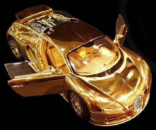 Diamond Bugatti Veyron Super Sport: Bugatti Veyron Model Made Of Gold And Diamonds Is More