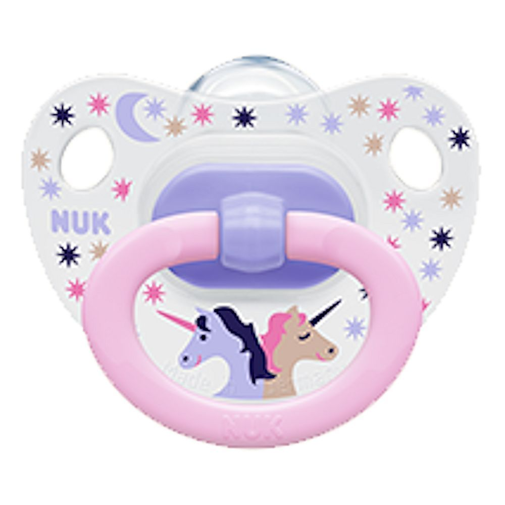 Our bestseller -  NUK Classic Pacifier Happy Days 6-18 Months Size 2 Silicone Unicorn (4630-10) #NUK