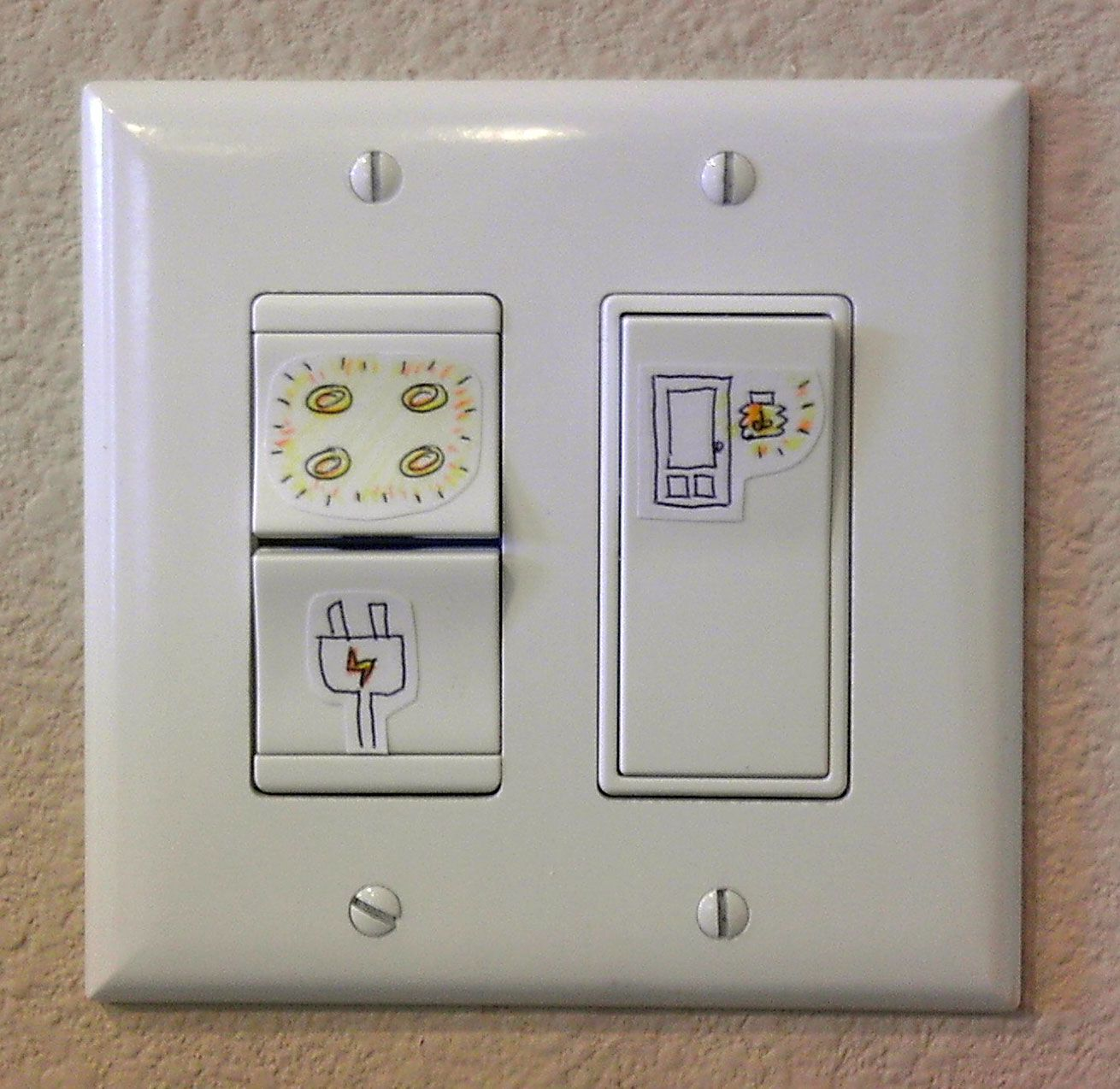 Nina Shih Diy Light Switch Labels Diy Lighting Light Switch Light