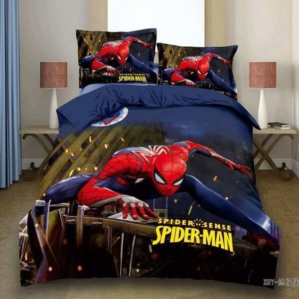 Cartoon Bedding Sets Duvet Cover Pillowcase Children Boy Birthday Gift - Spiderman 1 / Single(2pcs)no sheet