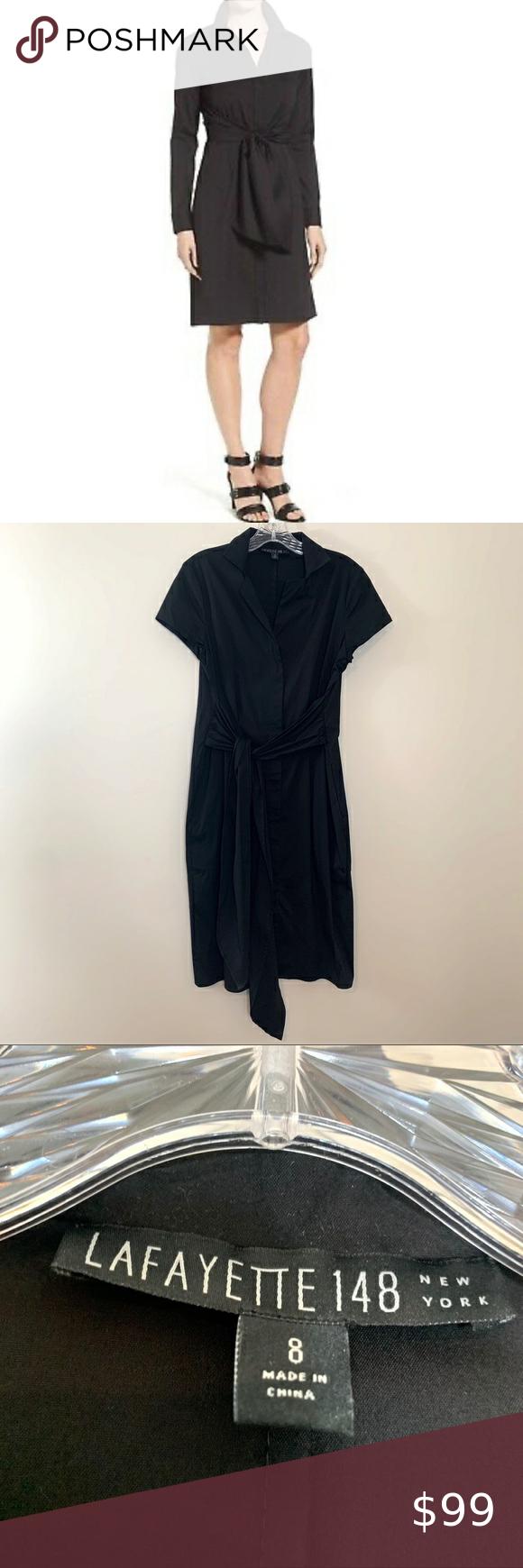 Lafayette 148 Black Brielle Poplin Shirt Dress Poplin Shirt Dress Peplum Midi Dress Porcelain Dress [ 1740 x 580 Pixel ]