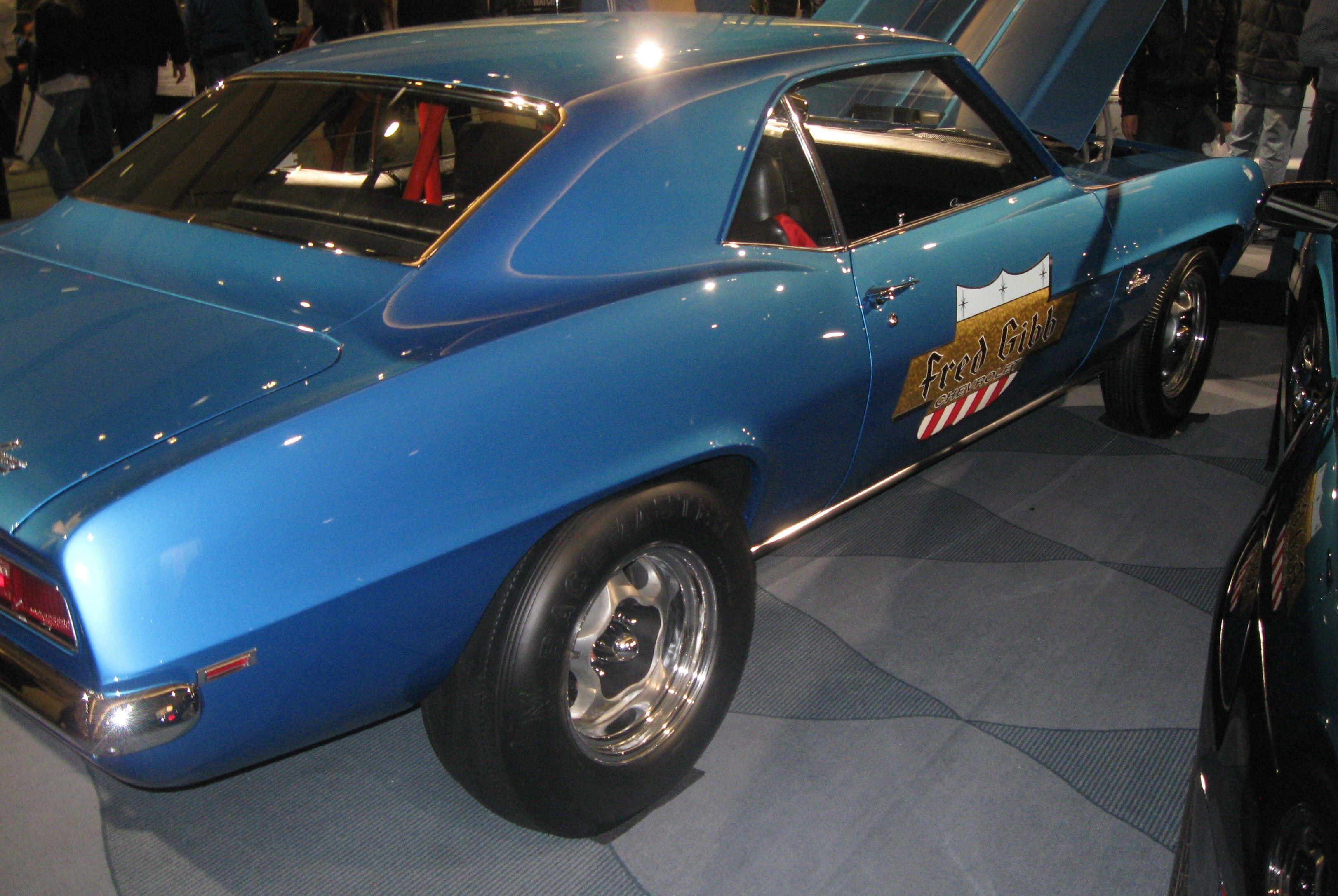 Vintage Camaro 427 drag car. http://musclecarfuturefortune.com/
