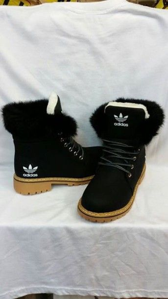 more photos f3612 d61de shoes adidas timberlands with furr