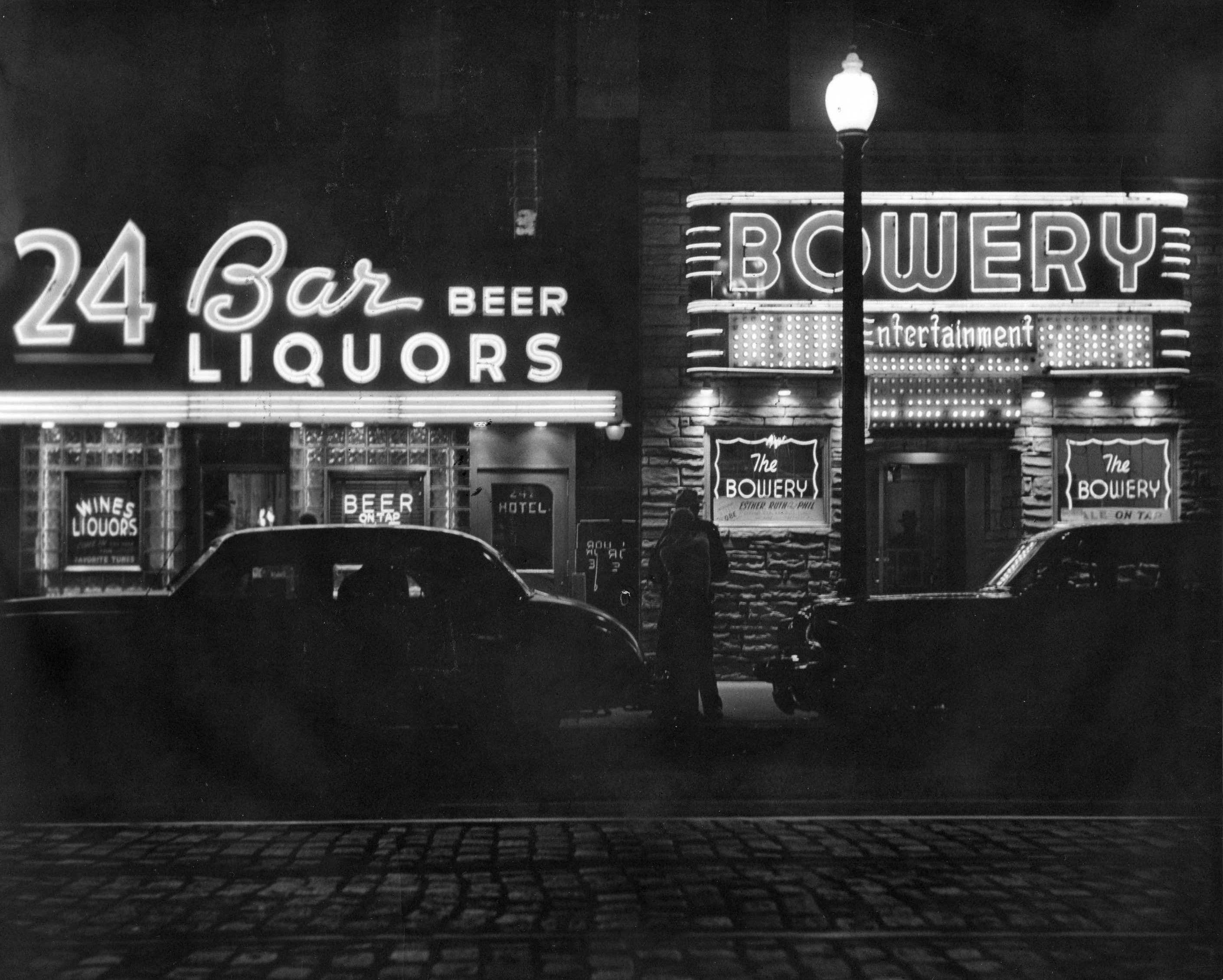ambient bar kulisse ... Schilder gezeichnet / gemalt Gebäude ...