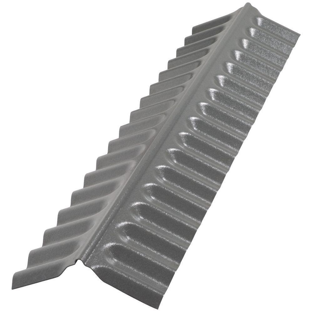 Suntop 4 ft. Castle Grey Polycarbonate Roof Panel Ridge
