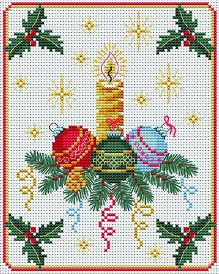 Adornos navidenos a punto de cruz