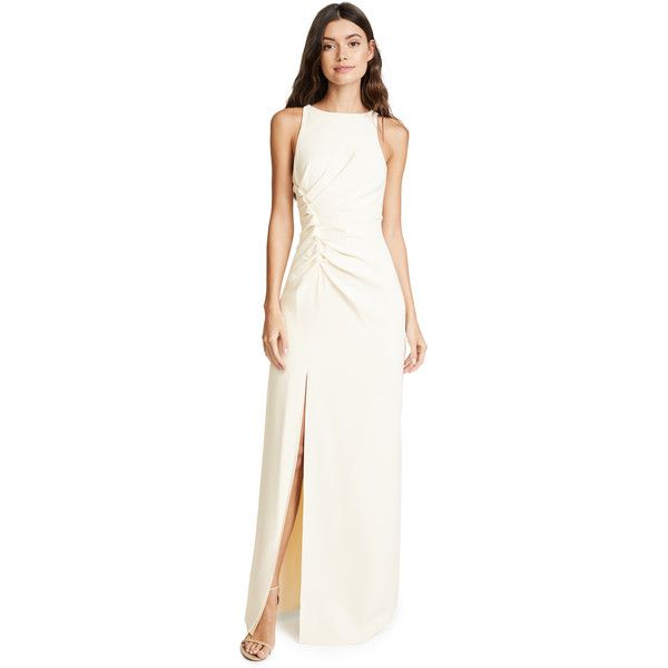 Halston Heritage Ruched Gown (1,420 SAR) ❤ liked on Polyvore ...
