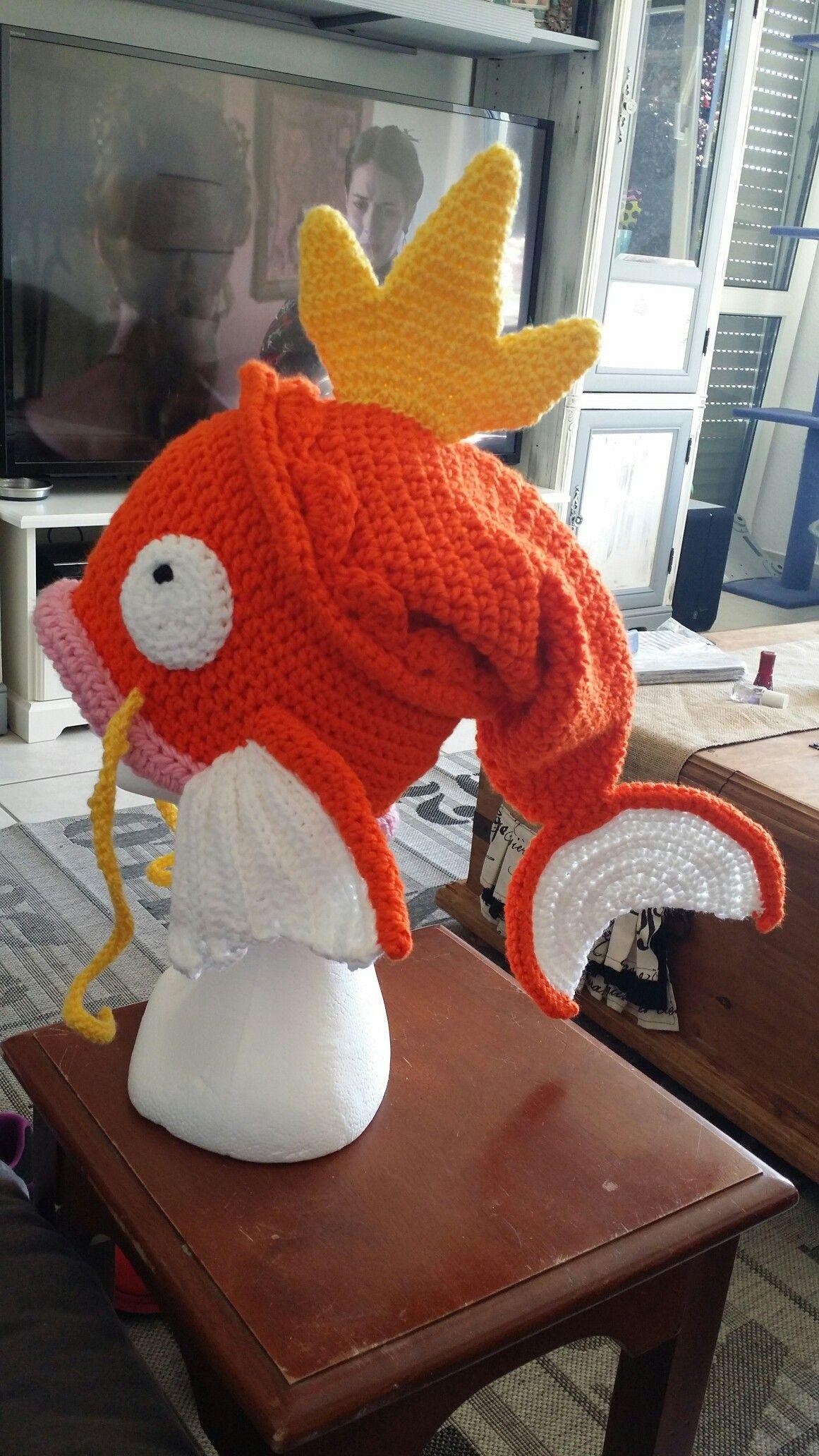 Crochet Magikarp hat | Crochet Hats | Pinterest | Magikarp hat ...