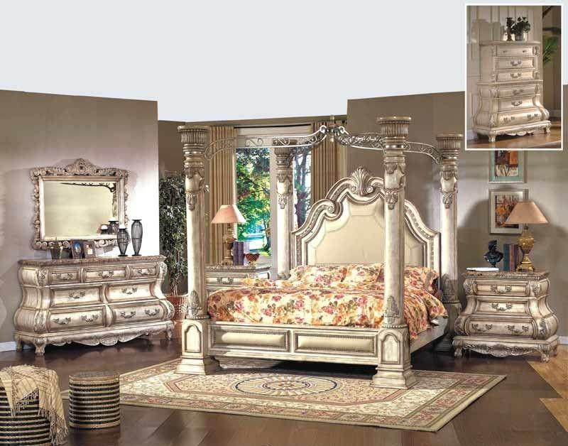 McFerran Home Furnishings - Monaco 5 Piece California King Bedroom